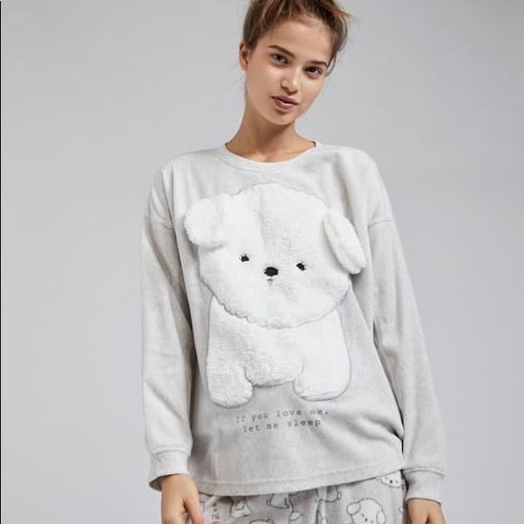 a66d8b414dfac OYSHO Intimates & Sleepwear | Fluffy Puppy Pajama Top | Poshmark